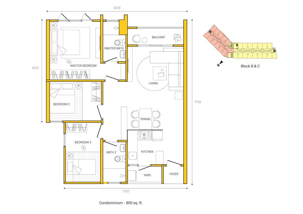 tri pinnacle layout