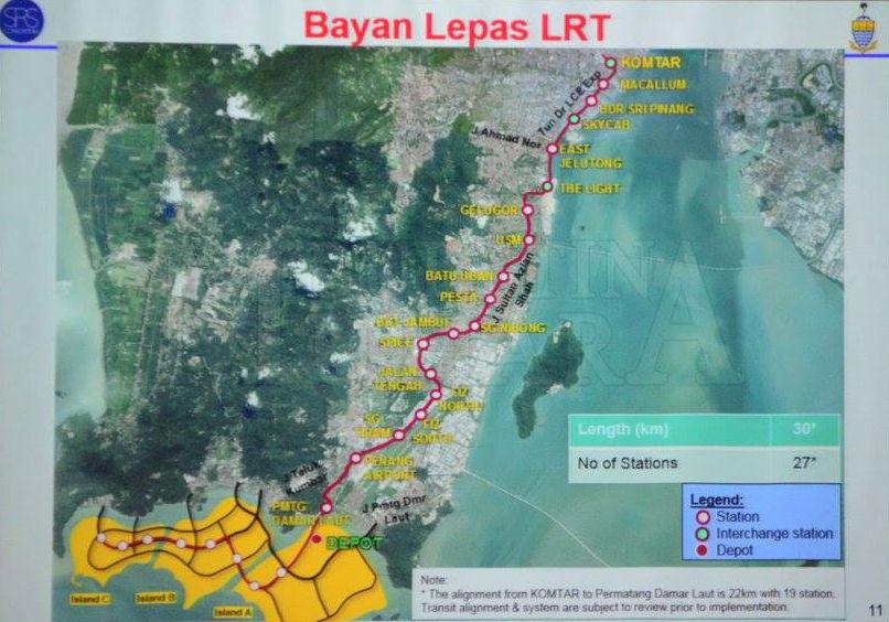 Proposed Penang LRT Routes
